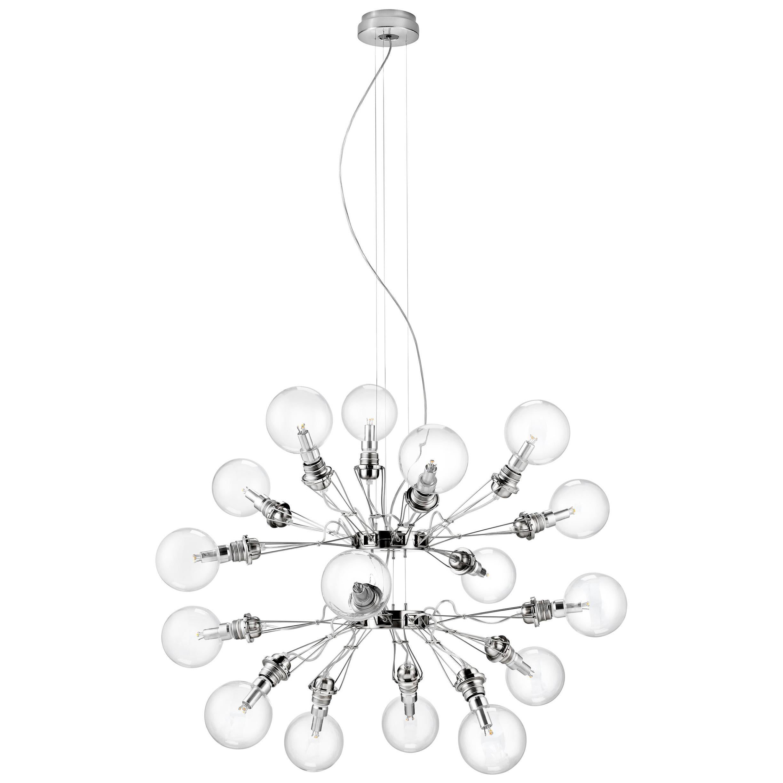 Lumina Matrix Doppia Suspension Lamp in Brushed Nickel by Yaacov Kaufman
