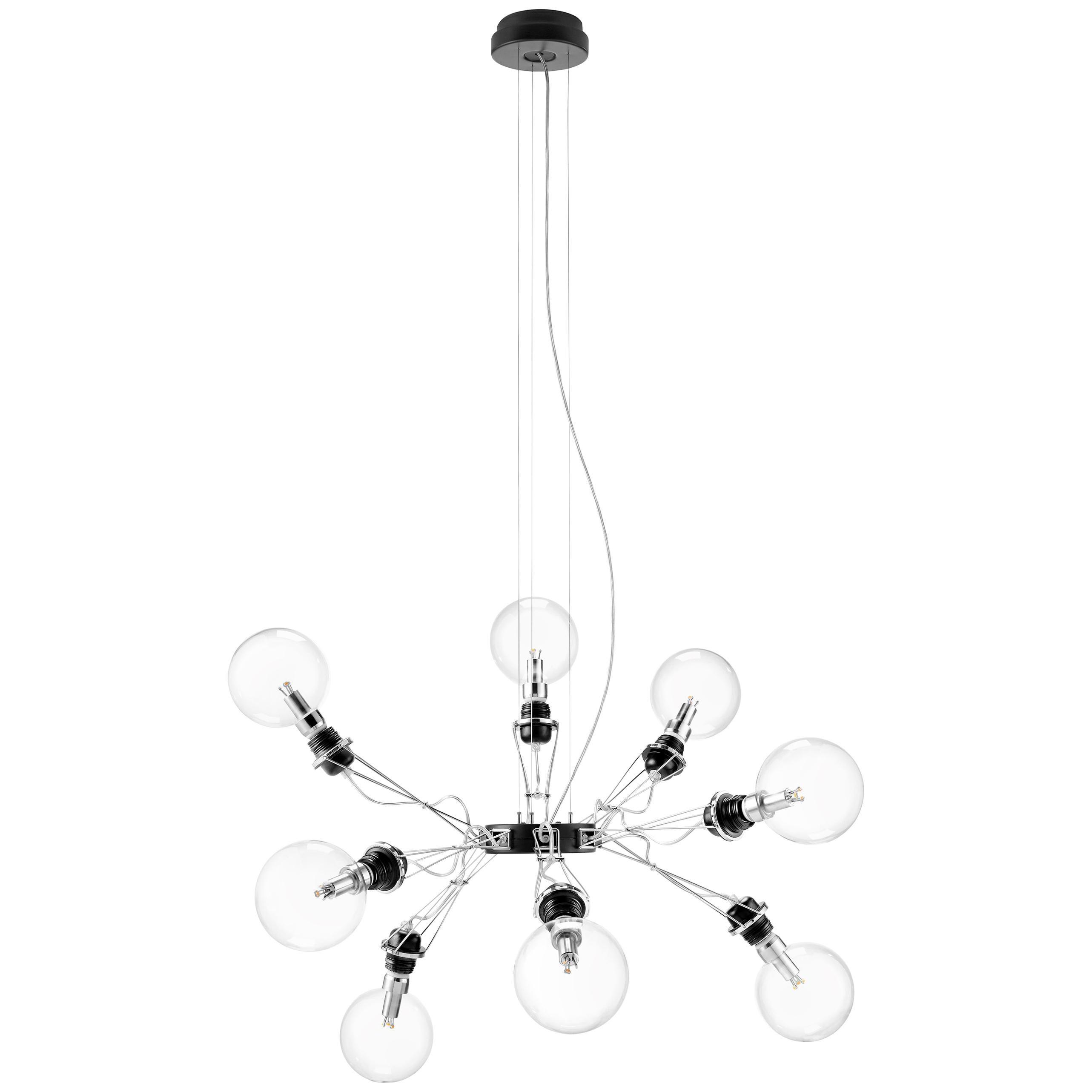 Lumina Matrix Otto Suspension Lamp in Black by Yaacov Kaufman