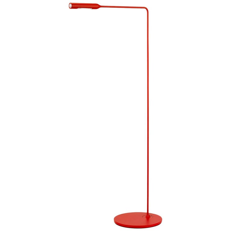 Lumina Flo Lounge Floor Lamp in Matte Red by Foster+Partners For Sale