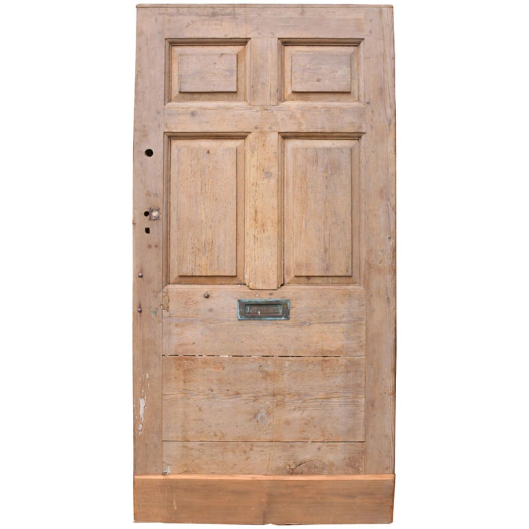 Antique English Pine Front Door For Sale