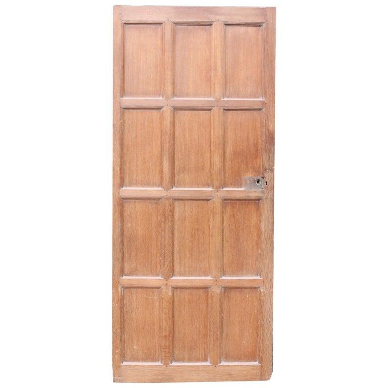 Antique Oak and Pine Interior Door For Sale
