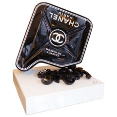 Jerrican Chanel N°5 Black Sculpture on Base Art Piece in Limited Edition