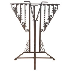 Wrought Iron Art Deco Stand or Pedestal