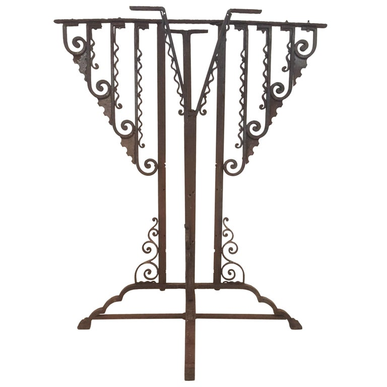 Wrought Iron Art Deco Stand or Pedestal For Sale
