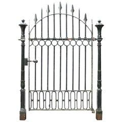 Antique Cast Iron Pedestrian Gate with Posts