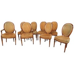 Set of 8 Jansen Style Dining Chairs