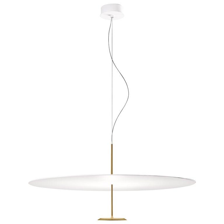 Lumina Dot Medium Pendant Light in Brass by Foster+Partners For Sale