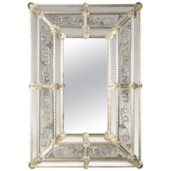 Inciso Venetian Glass Mirror by Ongaro e Fuga