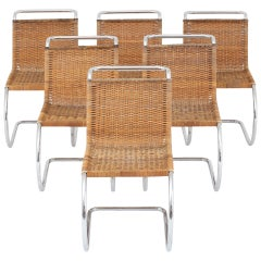 Set of Six Dining Chairs by Ludwig Mies van der Rohe