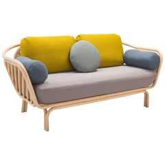 Rattan and Cane Sofa French Design