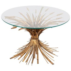 Robert Goossens for Coco Chanel, Wheatears Coffee Table in Gilt Metal, 1970s