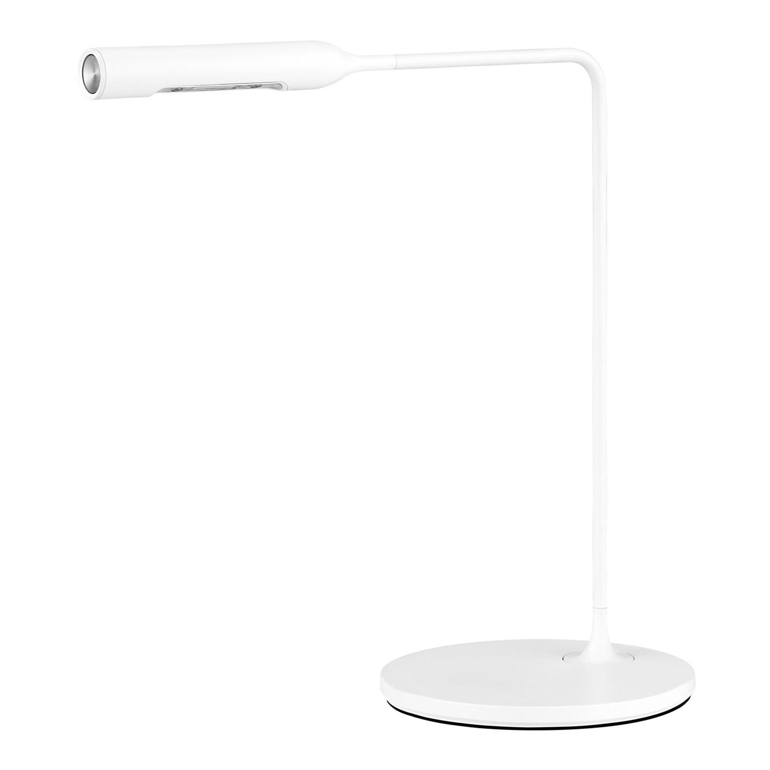Lumina Flo Bedside Lamp in Matte White by Foster+Partners