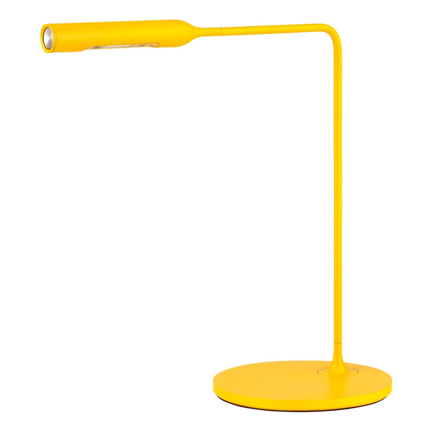 Lumina Flo Bedside Lamp in Matte Yellow by Foster+Partners
