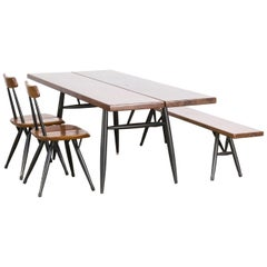 1960s Ilmari Tapiovaara 'Pirkka' Dining Table Set for Laukaan Puu