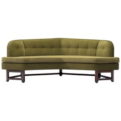 Edward Wormley Reupholstered 'Janus' Sofa with Green Upholstery