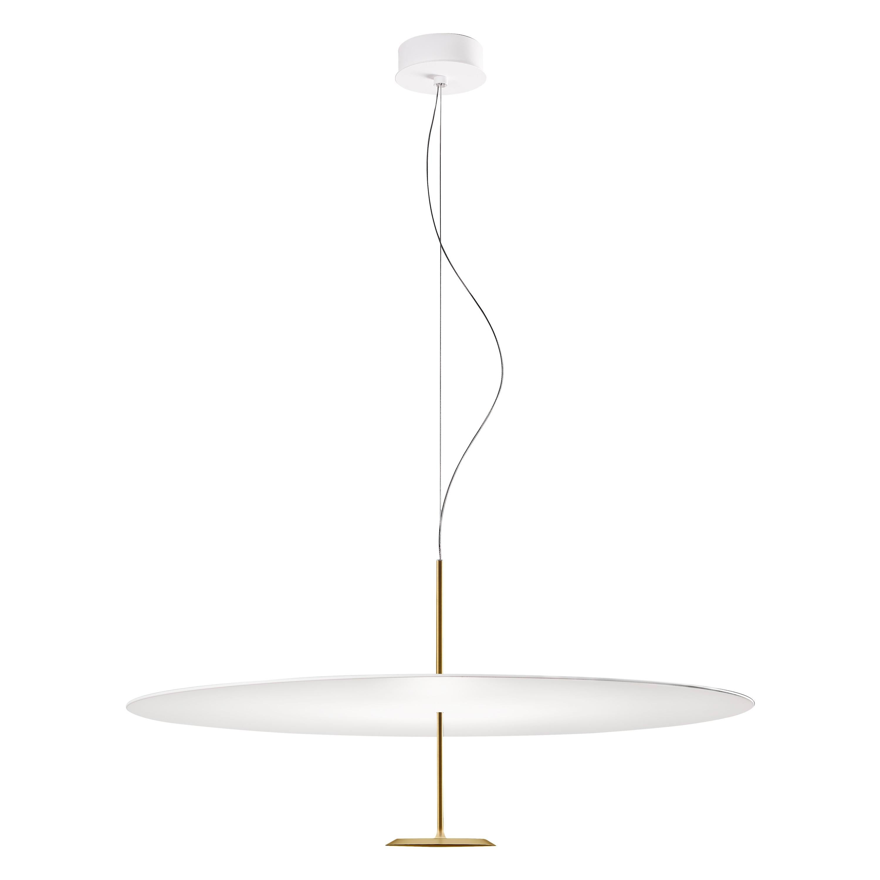 Lumina Dot Small Pendant Light in Brass by Foster+Partners