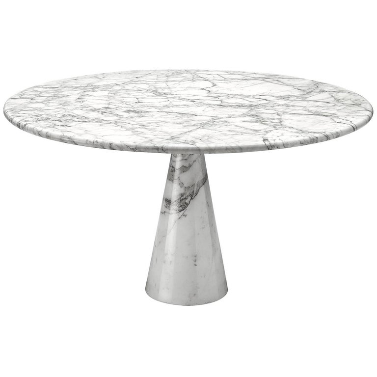 Angelo Mangiarotti Round Marble Table For Sale