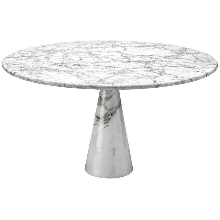 Angelo Mangiarotti Round Marble Table 1