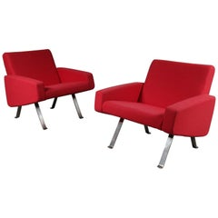 Pair of Joseph Andre Motte Lounge Chairs for Artifort, Netherlands, 1965