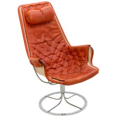 Bruno Mathsson Leather Armchair, Jetson from 1964