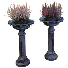 Pair of Victorian Cast Iron Planters