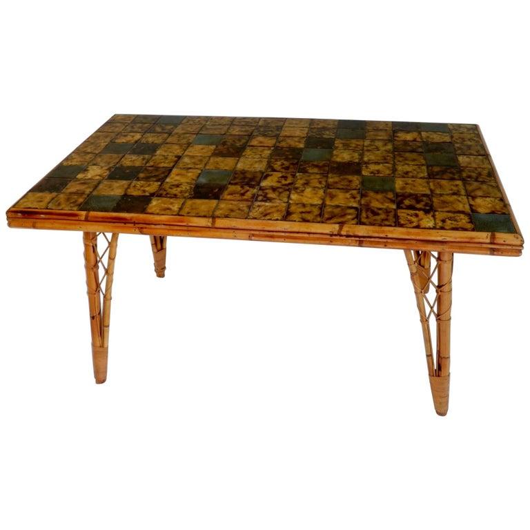 Tile Dining Tables 29 For Sale On 1stdibs