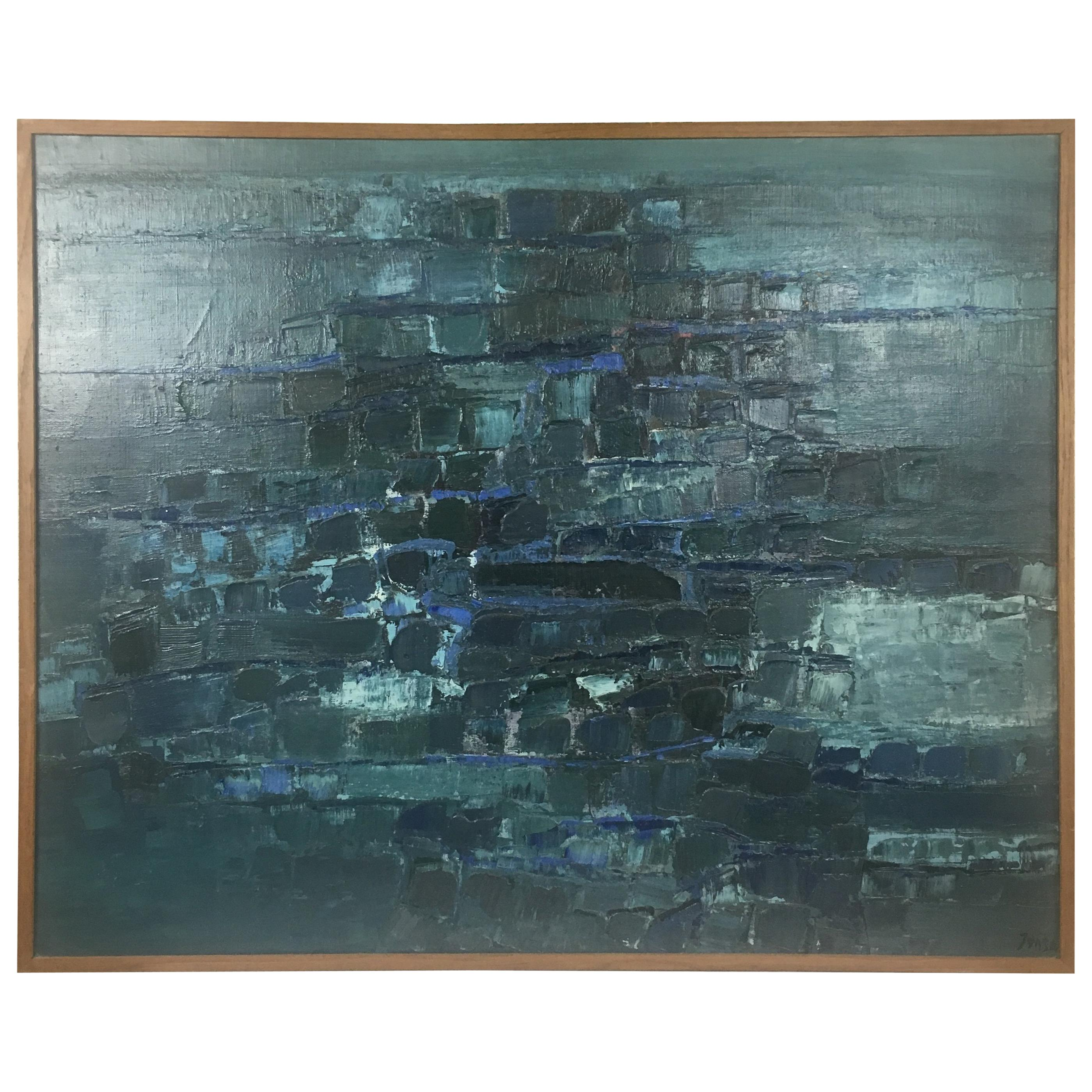 Midcentury Abstract Art Composition by Mark Janson, circa 1958