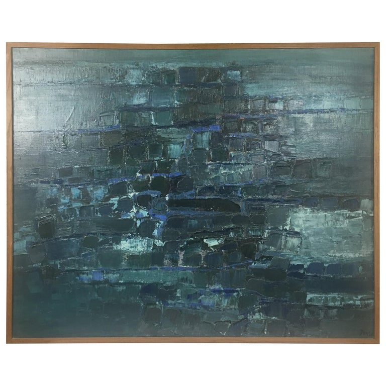 Midcentury Abstract Art Composition by Mark Janson, circa 1958 For Sale