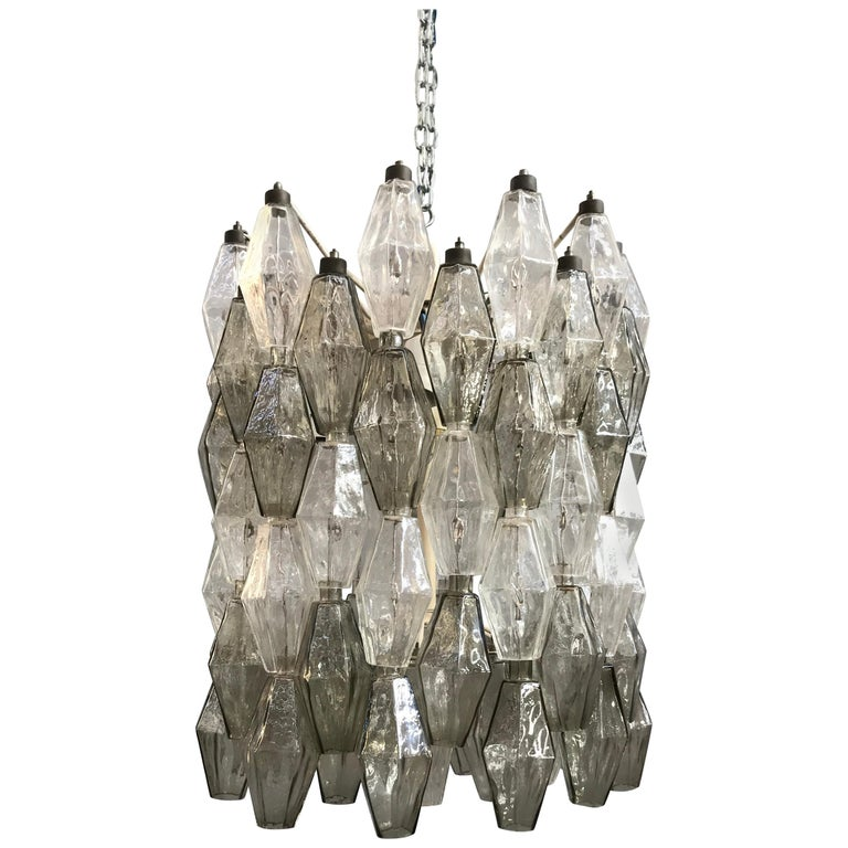 Poliedri Chandelier by Carlo Scarpa for Venini For Sale