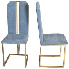 Pierre Cardin 'in the Style of' Set of 4 Elegant Chairs from the Early 1980s