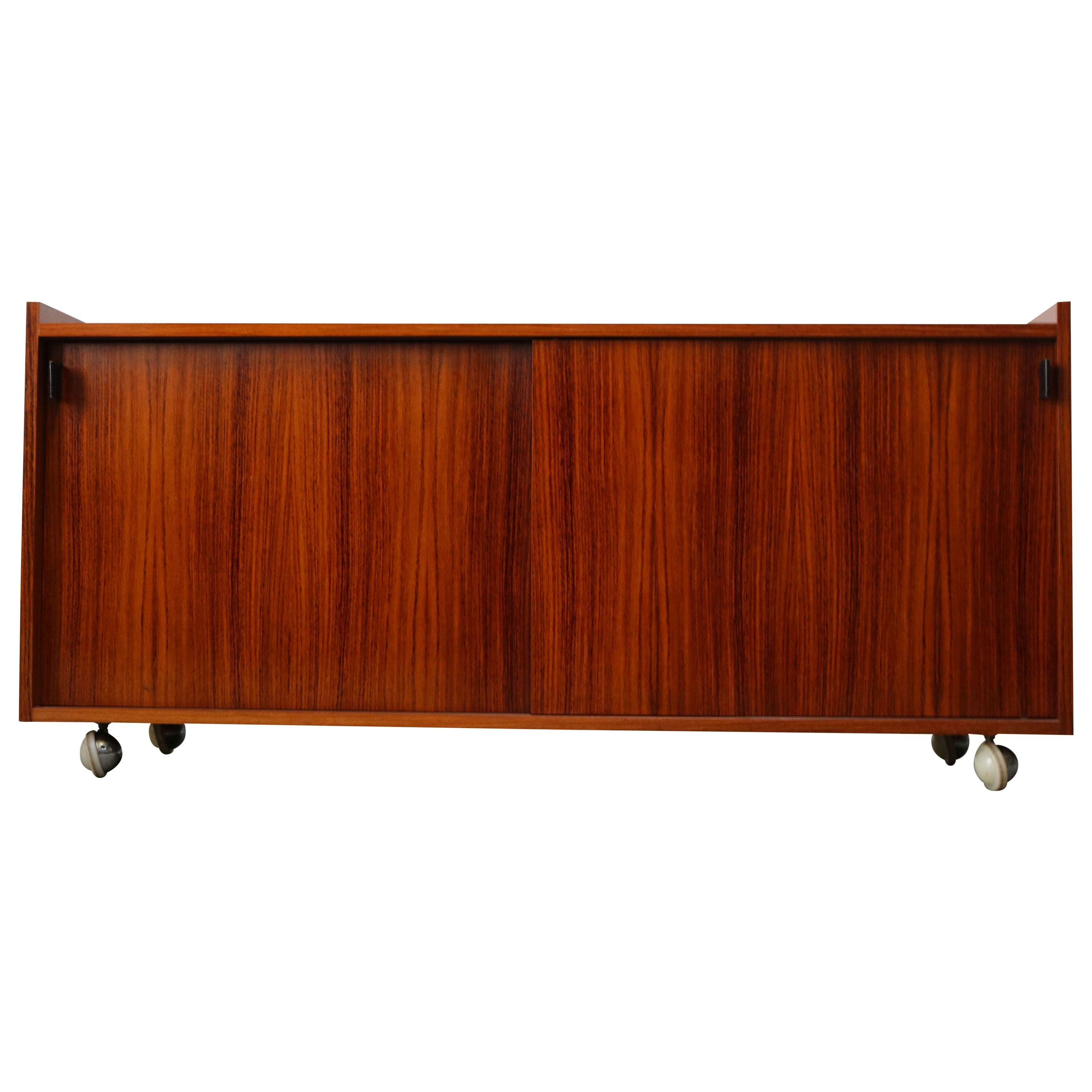 Design Credenza / Sideboard by Florence Knoll for De Coene Leather Rosewood 1960