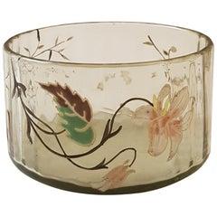 Emile Gallè France Art Nouveau Cristallerie Bowl Vase, 1890s