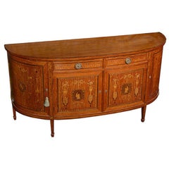 French Satinwood and Marquetry Side Cabinet