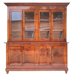 Biedermeier Bookcase in Solid Walnut, 1830s