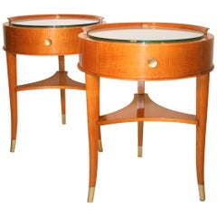 Pair of Signed De Coene Side Tables, 1930s