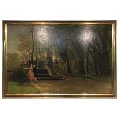 Oil Painting by P. F. Flickel in the Castle Garden