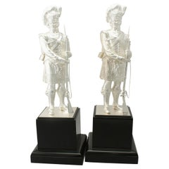 Contemporary English Sterling Silver 'Gordon Highlanders' Table Ornaments