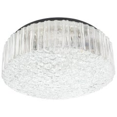 Glashütte Limburg Glass Flush Mounts Ceiling Light, Germany, 1960