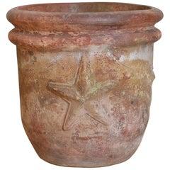 Terracotta Planter, Texas Star, 20th Century