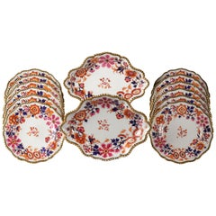 English Porcelain Part Dessert Service, Flight Barr and Barr, circa 1820