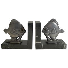Pair of Art Deco Fish Bookends, circa 1930