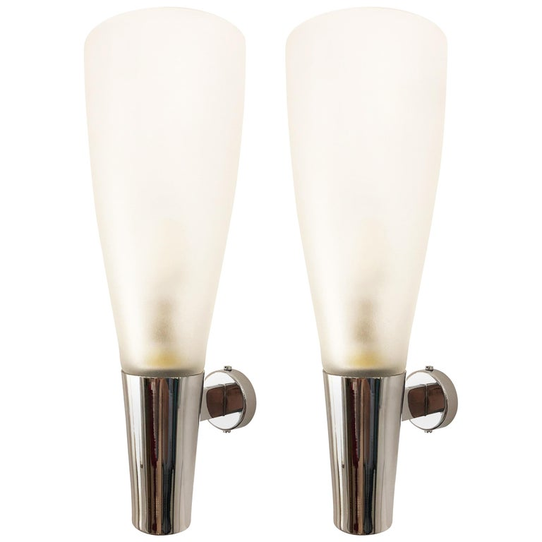 Pair of Sconces by Pietro Chiesa for Fontana Arte For Sale