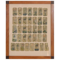 Framed Collection of Tarot or Playing Cards, Early 19th Century