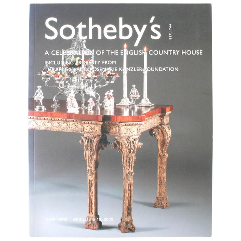 Sotheby's: The English Country House Including Property from Kanzler Foundation For Sale