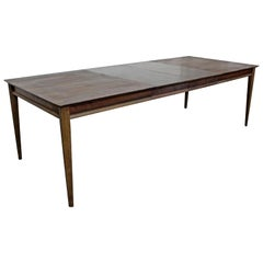 Mid-Century Modern Parquet Top Walnut Dining Table