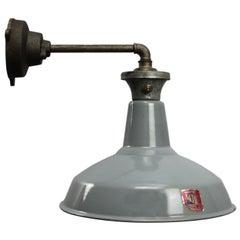 Gray Enamel British Vintage Industrial Iron Cast Wall Lights (240x)