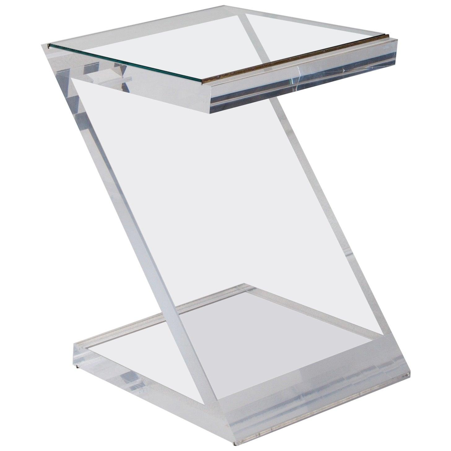 "Small Side Table by Jeffrey Bigelow, ""Z"" table"