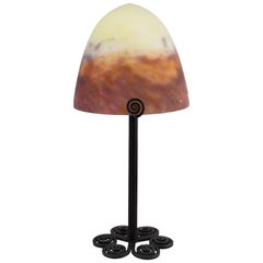 Muller Freres French Art Deco Table Lamp, 1920s