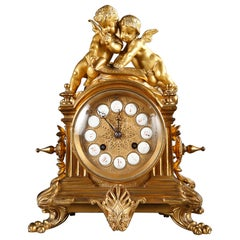 Clock with Cupids by D'Aureville, Chameroy and Maison Barbot