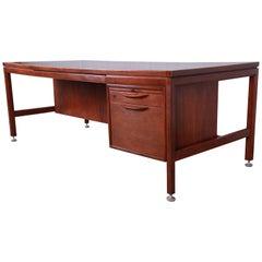 Jens Risom Mid-Century Modern Walnut Executive Desk
